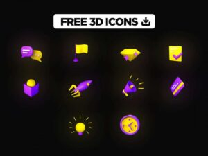 Free Sketch 3D Icons Pack