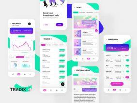 Free Tradix Trading App UI Kit
