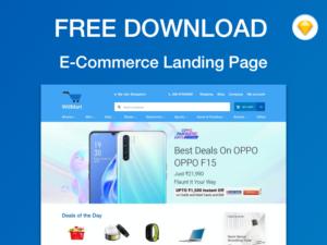 Free e-Commerce Homepage Template