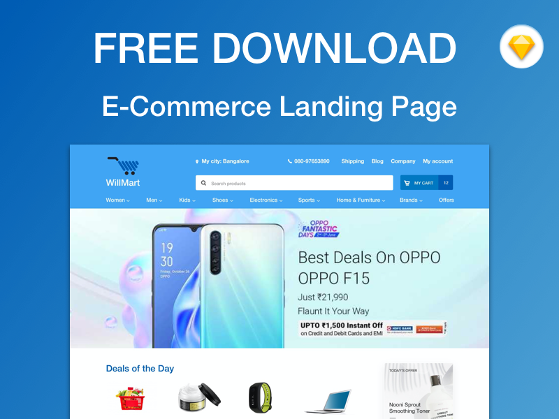 Free e-Commerce Homepage Template