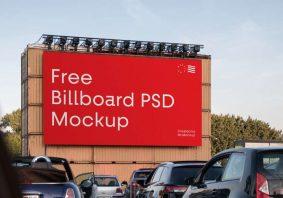 Free Big Billboard PSD Mockup