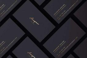 Free Black & Gold Branding Mockup
