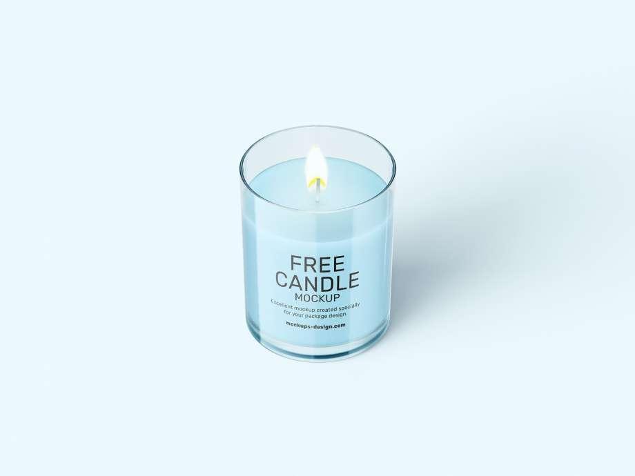 Free Candle Mockup