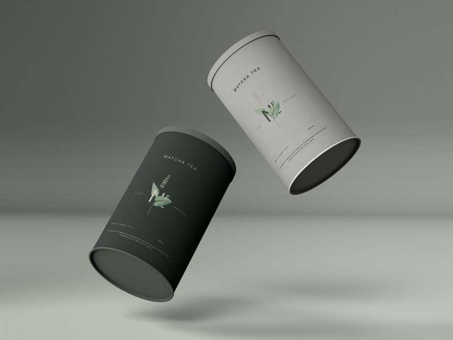 Free Cylinder Package Mockup