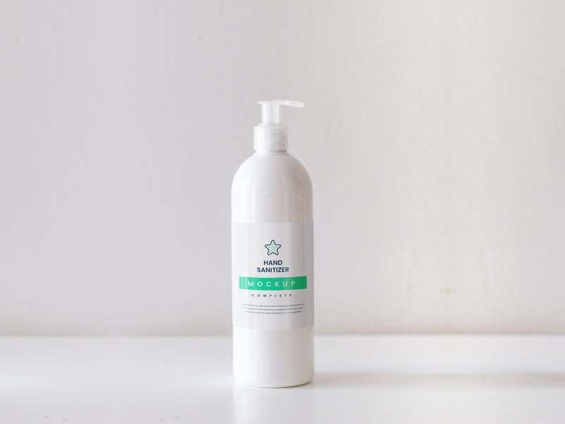 Free Hand Sanitizer PSD Mockup