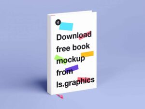 Free Hard Cover Book Mockup