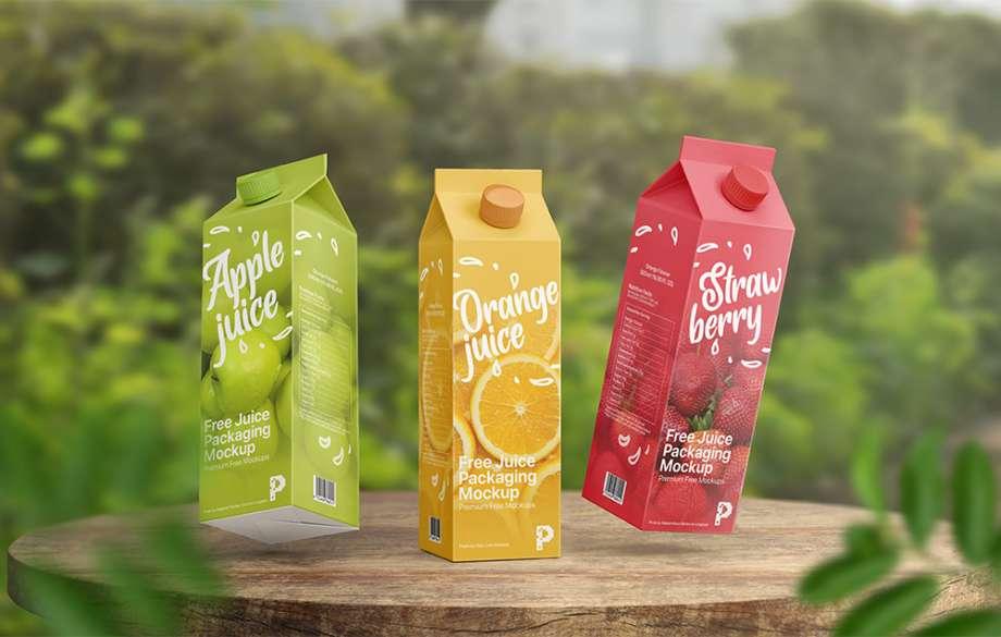 Free Juice Packaging Mockup