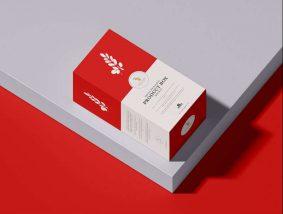 Free Premium Product Box Packaging Mockup PSD