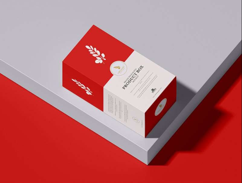 Free Premium Product Box Packaging Mockup PSD