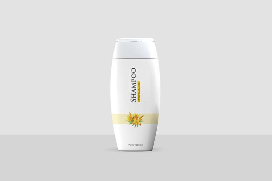 Free Shampoo Bottle Mockup