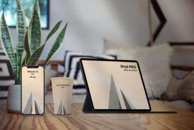 Free Workplace Scene Kit Mockup