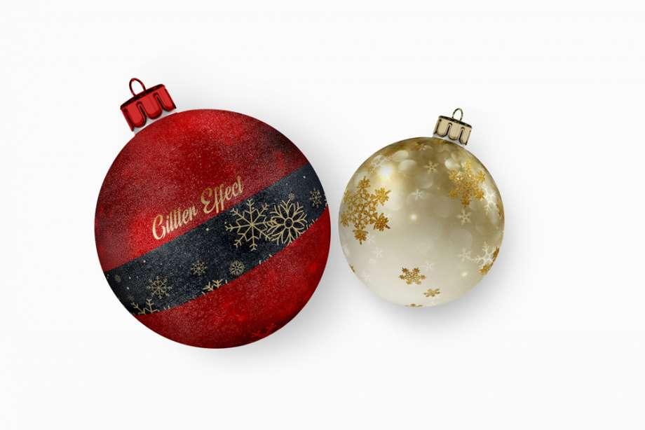 Free 2 Christmas Ball Mockup