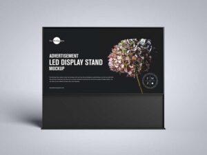 Free Advertisement LED Display Stand Mockup