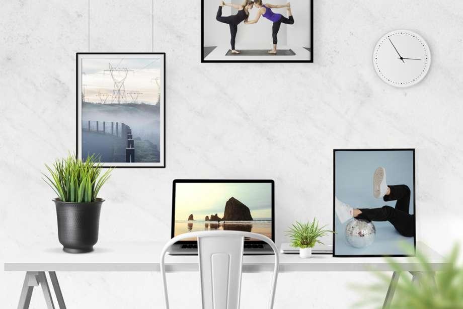 Free Desk Scene Creator Mockup