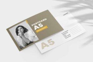 Free Double Sided Postcard Mockup