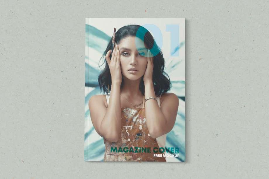 Free Minimalist Magazine Cover Mockup