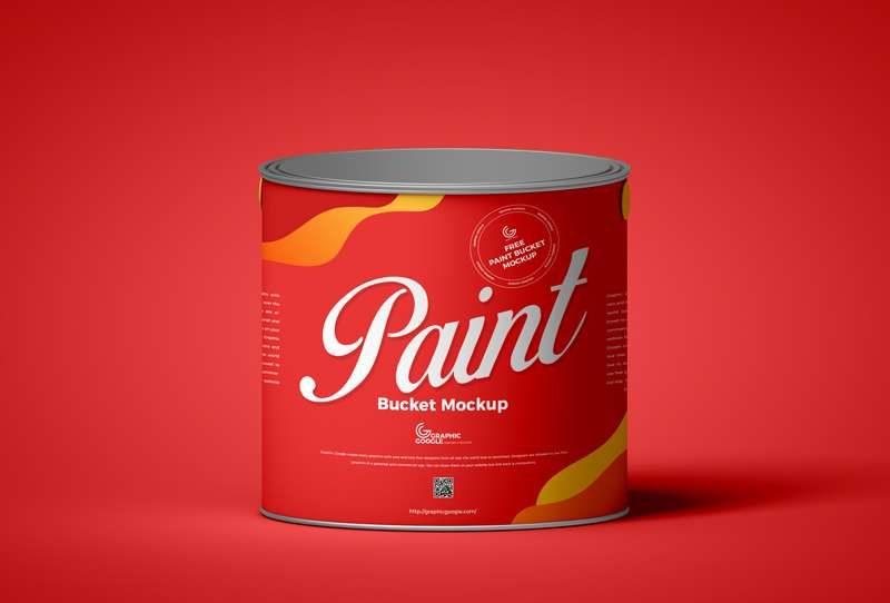Free Paint Bucket Mockup