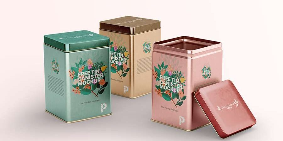 Free Tin Canister Mockup