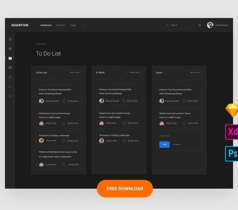 Free To Do Template UI Kit