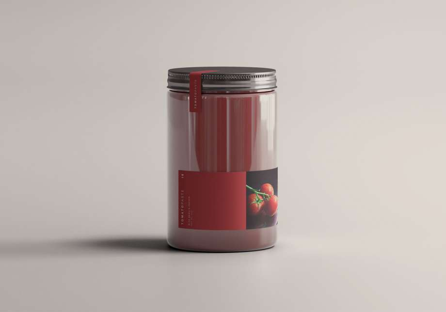 Free Tomato Jar Mockup