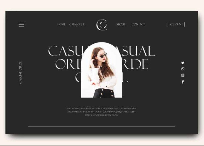 Free Online Shop Landing Page