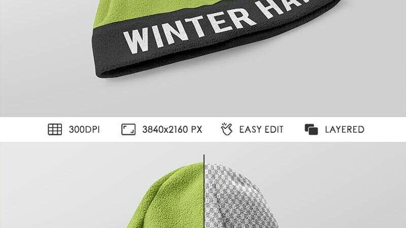 2 Free Winter Hat Mockups