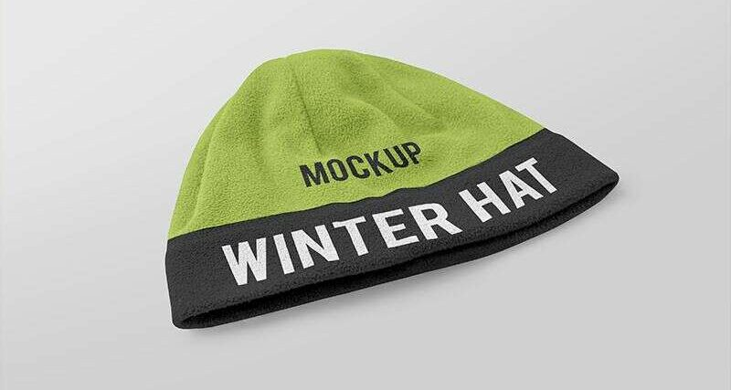 2 Free Winter Hat Mockups