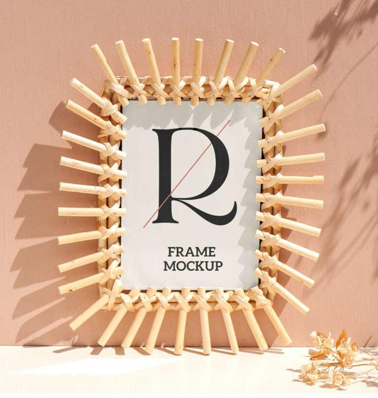 Free Bamboo Frame Mockup