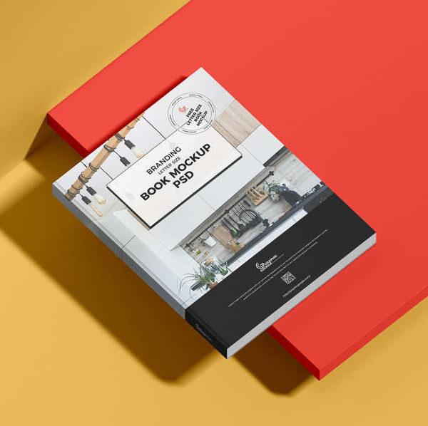 Free Branding Letter Size Book Mockup PSD