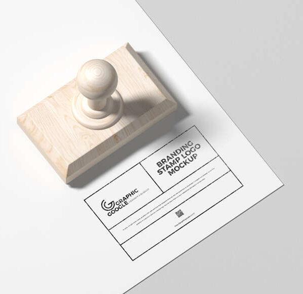 Free Branding Stamp Logo Mockup