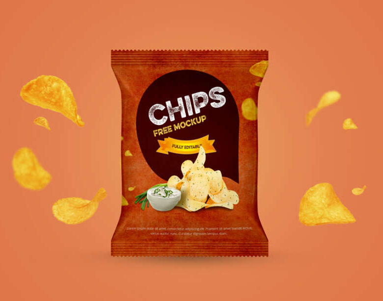 Free Chips Packet Mockup (PSD)