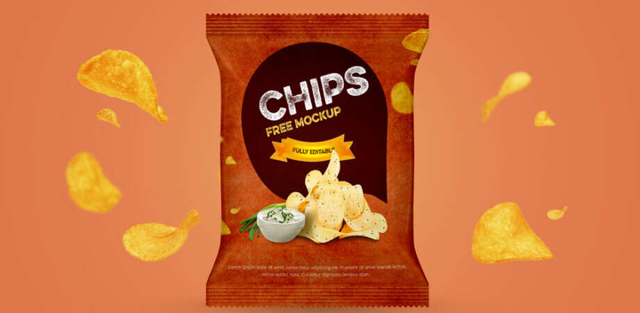 Free Chips Packet Mockup (PSD)