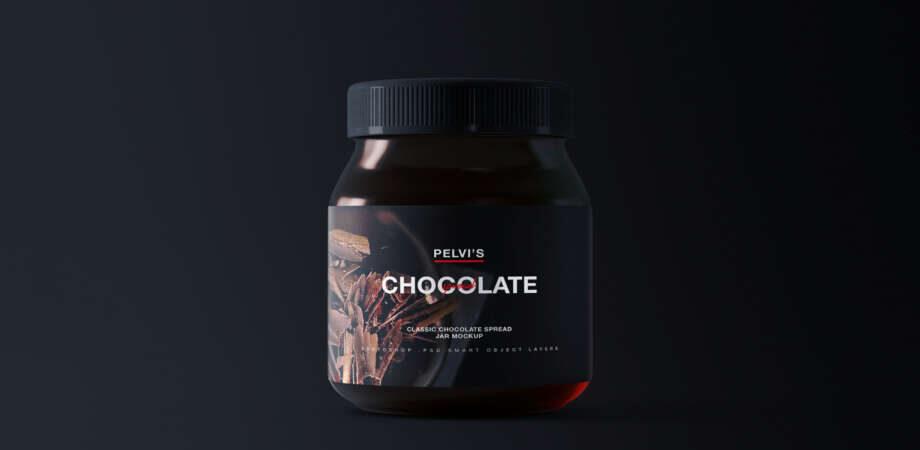 Free Chocolate Jar Mockup