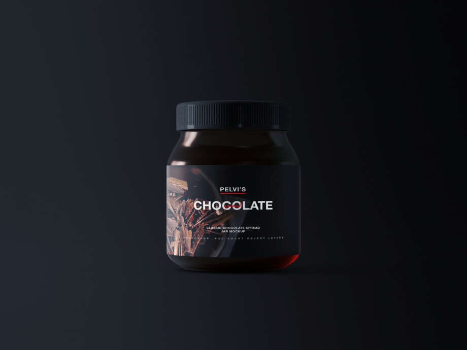 Free Chocolate Jar Mockup