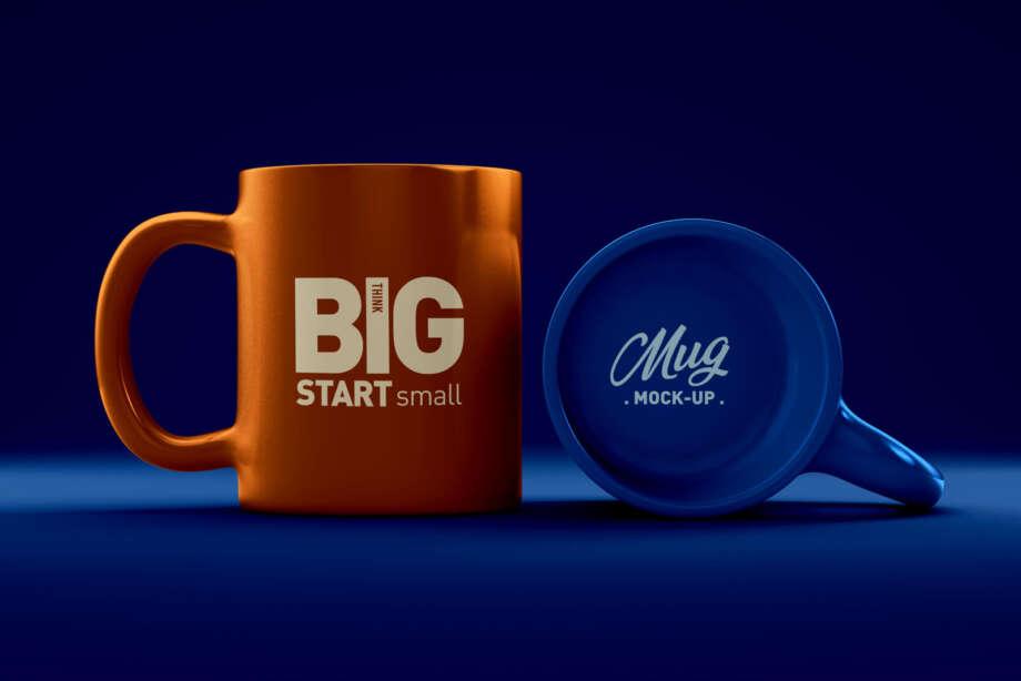 Free Coffee Mug Logo Mockup PSD
