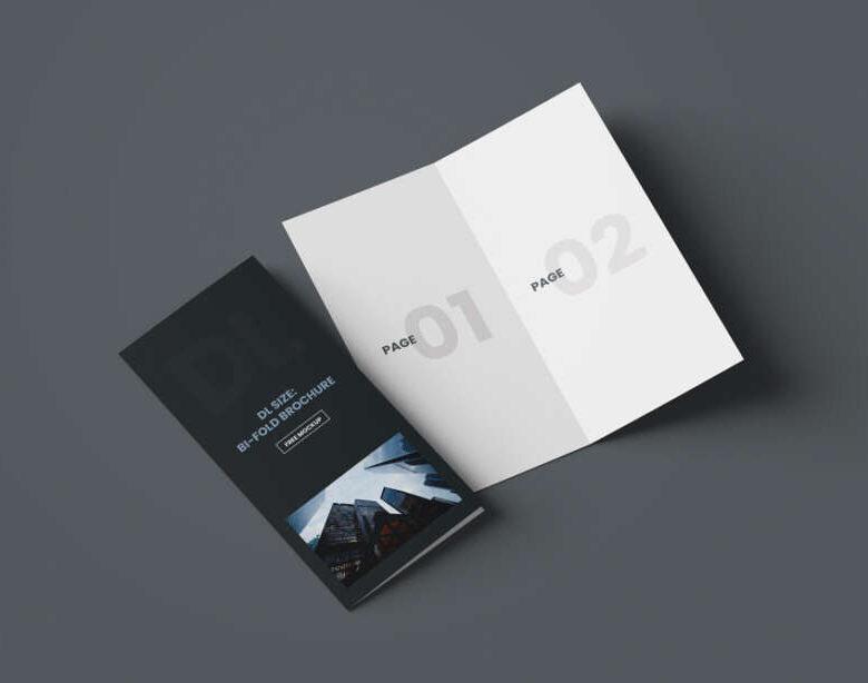 Free DL Bi-Fold Brochure Mockup