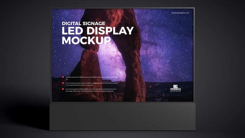 Free Digital Signage LED Display Mockup