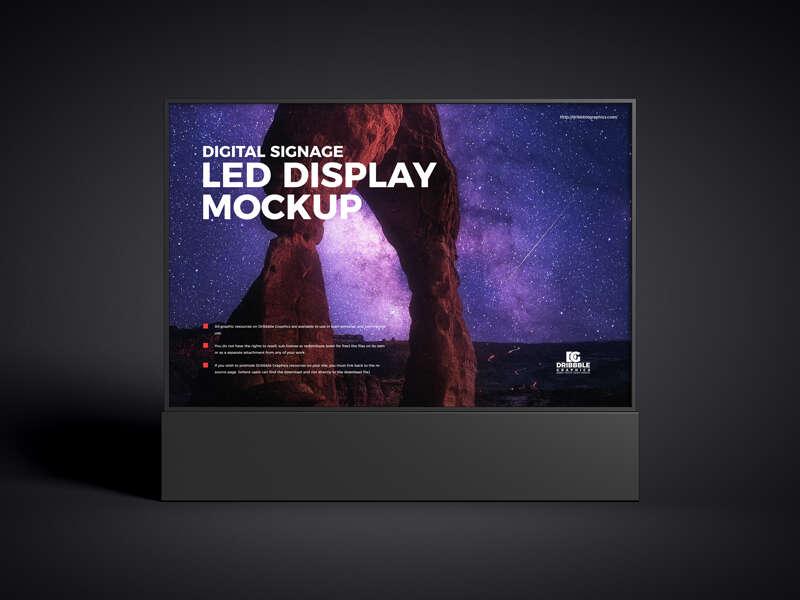 Free Digital Signage LED Display Mockup