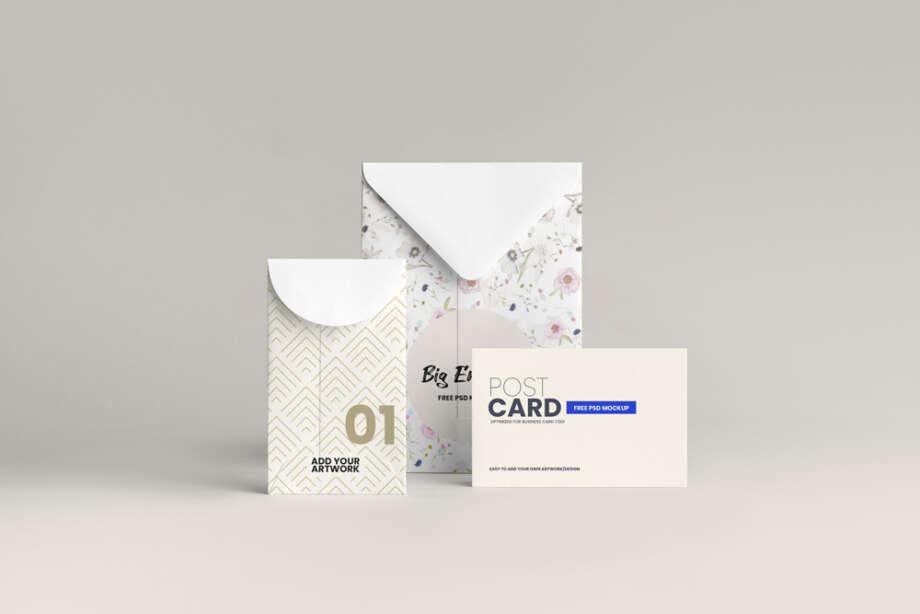 Free Envelope Stationery Mockup