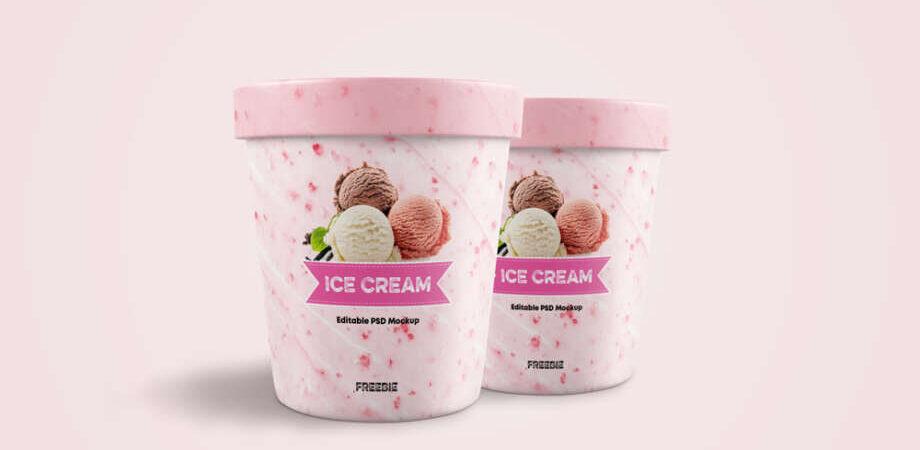 Free Ice Cream Jar Mockup