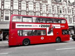 Free London Bus Vehicle Branding Mockup PSD