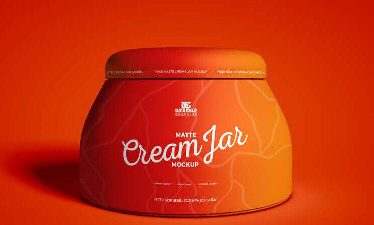 Free Matte Cream Jar Mockup