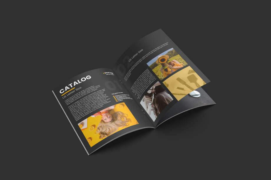Free Open Catalog Mockup