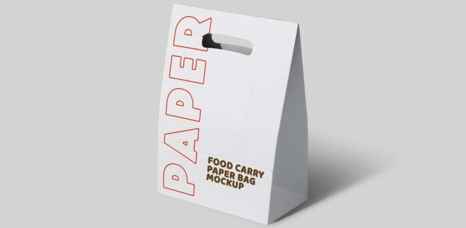 Free Paper Carry Bag Mockup