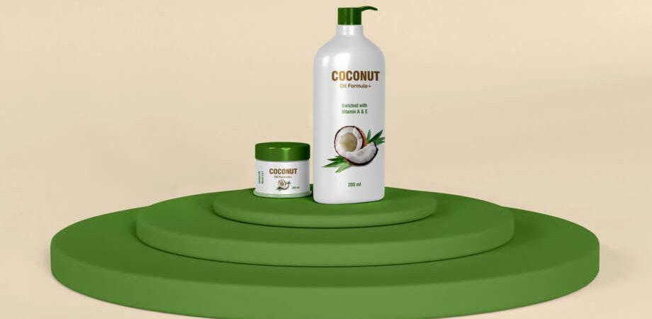 Free Spa Cosmetics Conditioner & Cream Jar Mockup PSD