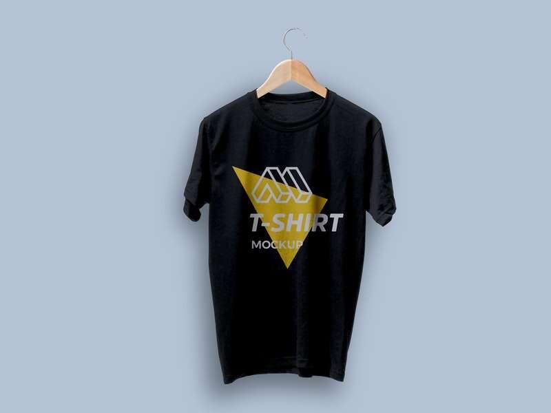 Free T-shirt on Hanger Mockup