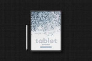 Free Tablet in Dark Style Mockup