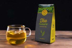 Free Tea Kraft Paper Packaging Mockup PSD
