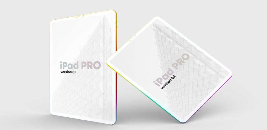 Free iPad Pro Clay Colorful Mockup
