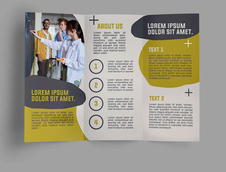 FREE LANGUAGE SCHOOL TRIFOLD BROCHURE TEMPLATE IN PSD